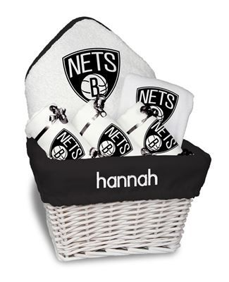 9 best calgary flames baby gifts images on pinterest baby gifts our personalized brooklyn nets medium gift basket is a perfect basketball baby gift with 3 burp negle Images