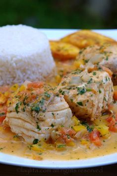 Pescado Encocado ~ ~ This Ecuadorian fish with coconut sauce is a traditional coastal dish of fish seasoned with citrus and spices and then cooked in a sauce of cilantro, onions, tomatoes, bell peppers and coconut milk. In Ecuador it is called pescado encocado or just encoca'o, which literally translates as coconutted fish. In Ecuador this dish is made with corvina, a type of sea bass, I used halibut but any fresh fish would go well with this sauce, I've made it before with tilapia, cod and…