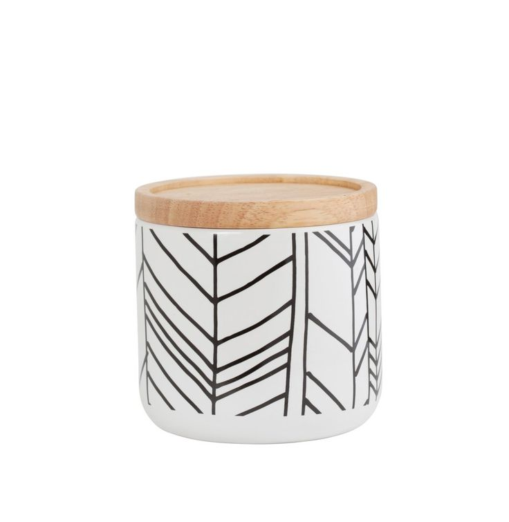 White Feather Canister - Medium