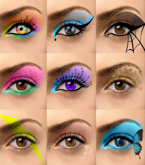 cool eyeshadow design emo eye