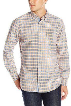 Nautica Men's Small Plaid Oxford Shirt - Shop for women's Shirt - Stern Gold Shirt