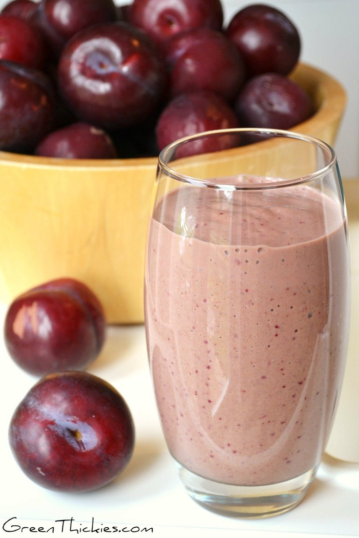 This Spicy Plum Smoothie will blow you away: (serves 2) 2 Cups Non Dairy Milk,8 Plums (small plums with red flesh), 1 Banana, 1 Cup Spinach, tightly packed or 2 cups loosely packed, ½ Cup Dates (or any other dried fruit which can also be pre-soaked for a smoother blend), 1 Cup Oats Or Quinoa, ½ tsp Vanilla, 1 tsp Ginger, ¼ tsp of Cayenne pepper (to taste or omit completely).