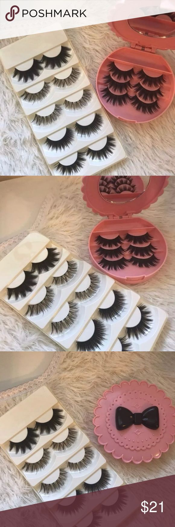 8 Eyelashes + Eyelash Case with a mirror All brand new include  ⭐️8 Pairs of Eyelashes  ⭐️Eyelash Case w Mirror   ✅Super Deal⭐️✨  +$2 Add on eyelash Applicator  +$3 Add on eyelash glue Please message me if you want to add them.    # tags Iconic, mink, red cherry eyelashes, house of lashes, doll, kawaii, case, full, natural,  Koko, Ardell, wispies, Demi , makeup, Mink lashes, wispy, ICONIC lashes  Ship within 24 hours ✅ Makeup False Eyelashes