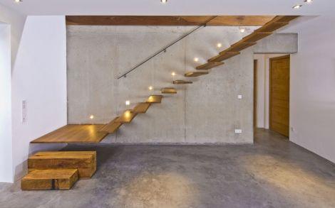 Architektenhaus von BAUFRITZ Weitblick Treppenaufgang