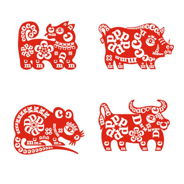 DCM Lunar New Year Logo System--inspiration..red and white and patterns from lettersLead Ventures, Ventures Capitals, Capitals Firm, Years Logo, Usa Dcm Lunar, Chung Design, Design Usa Dcm, New Years, Logo System