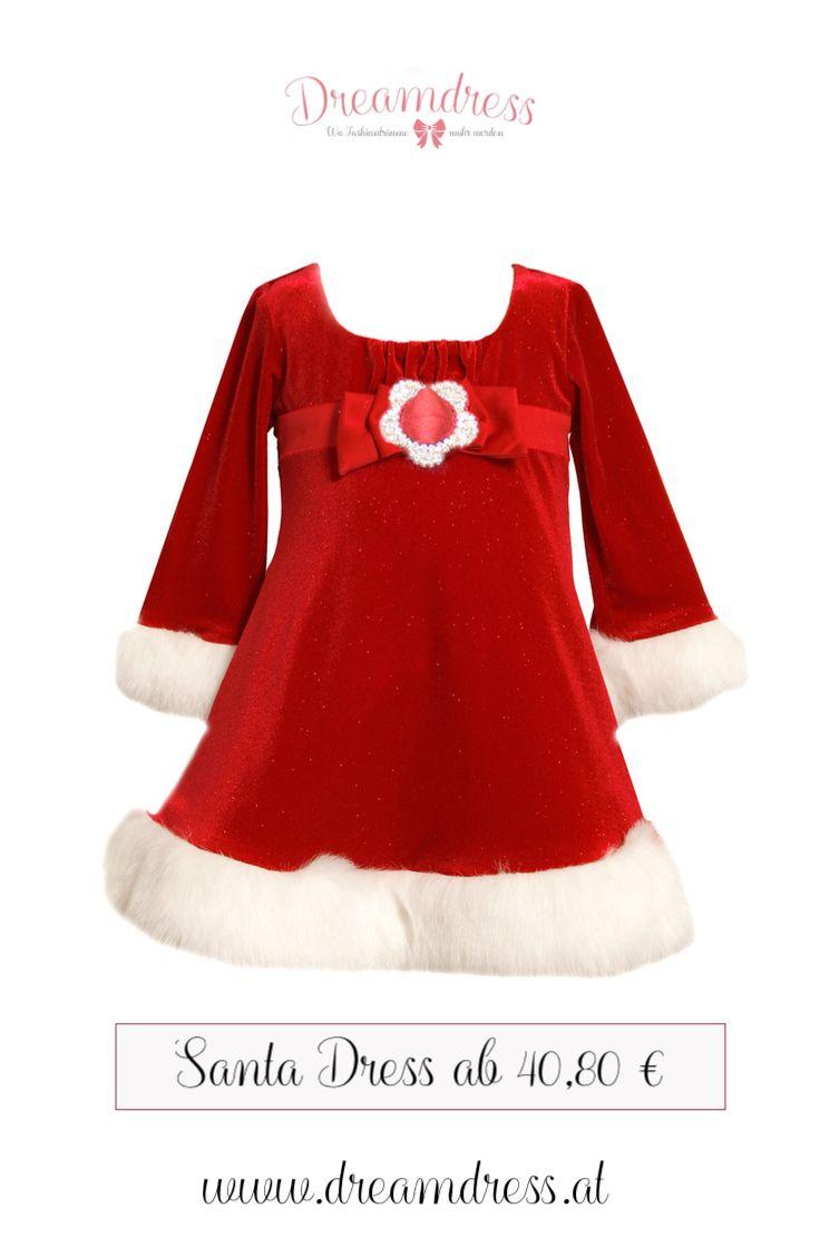 Festtagskleid für Mädchen! Tolle Weihnachtsmode aus den USA! #mädchenmode, #girlsfashion, #SantaDress, #ChristmasLook, #partymode, #partydress