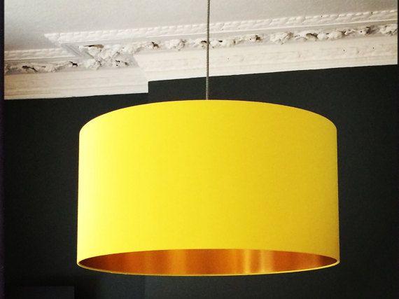 Acid Yellow Handmade Fabric Lampshade With By Lovefrankiedotcom