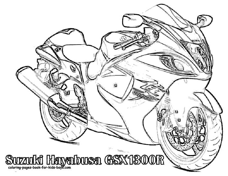 Harley-Davidson Coloring Page | Cars, trucks & motorcycles i like ...