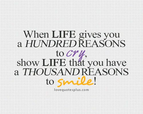 Life Motivational Wallpaper When Life Gives You A Hundred Reasons To Cry Show Life That You Have A Thousand Reasons To Smile