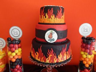 Miami Heat Party cake by Shamene Moyeda