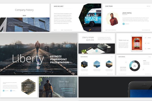 Just discovered Creative Market.....liking what I see so far.....Liberty PowerPoint Presentation by Entersge on @creativemarket