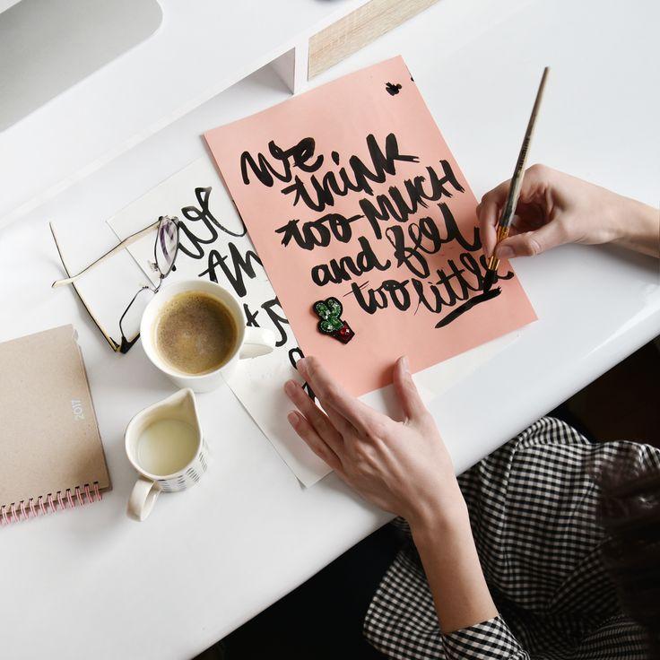 Lettering. Handlettering. Brush lettering. Typography. Handmade font.