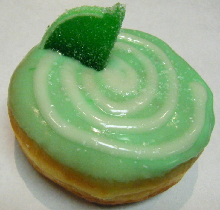 Cadillac Margarita donut at Psycho Donuts!  Tequila cream filling!  Now THAT'S what I call a donut!!