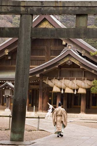Izumo Taisha shrine, in Shimane Prefecture, Japan, 2006 - 出雲大社, 島根県 日本, 2006年撮影