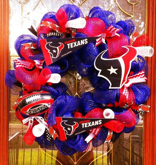 Texans deco mesh wreath