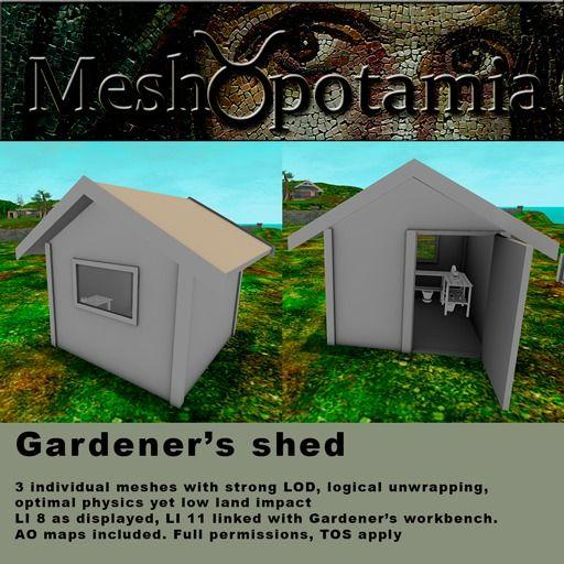Meshopotamia Gardeners Shed - Sauna - Playhouse