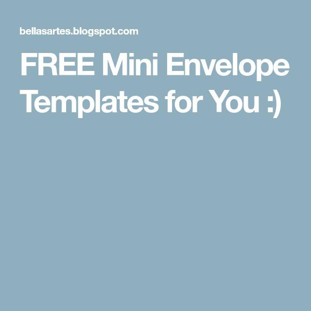 Best  Envelope Templates Ideas On   Envelopes
