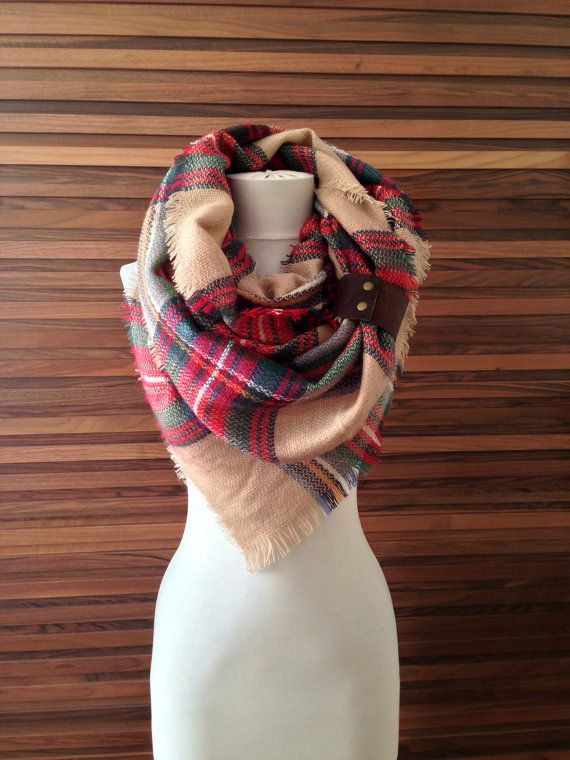 Blanket Scarf Winter Accessory Warm Fall Winter by elmasekeri