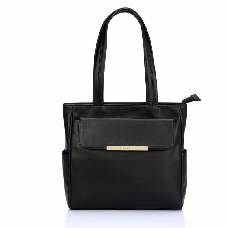 Black tote bag by caprese. Simple and sophisticated.  Also available in Royal Blue color. Check it out..