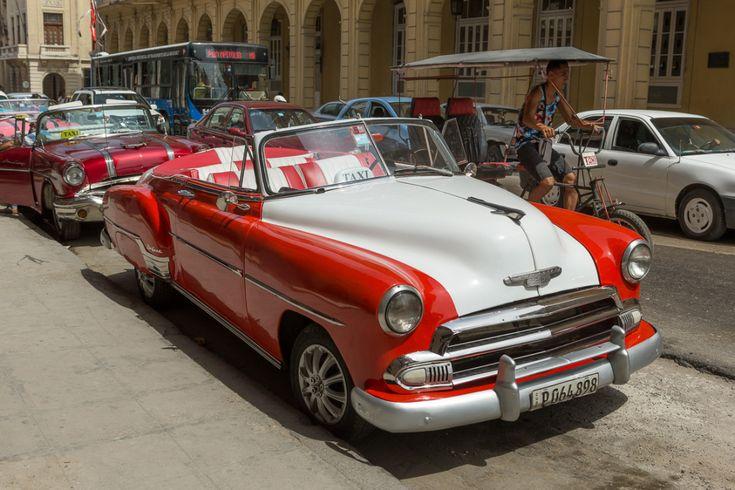 A classic American car in Havana