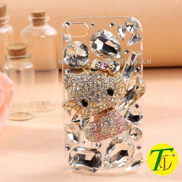 Aliexpress.com : Buy Free shipping 2013 luxury 3D DIY  hello kitty design bling crystal cell phone covers for Iphone4 4S 5(cp 219) from Reliable Hotsale fashion KT cat bling rhinestone mobile phone cases in the USA suppliers on TaiDian rhinestone cell phone cover $8.80