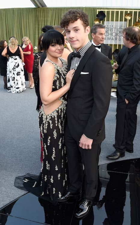 Nolan Gould with Modern Family co-star Ariel Winter at the 2016 Critics' Choice Awards...