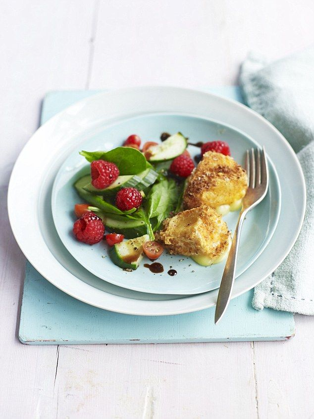 Coconut Camembert - get recipe here: http://www.dailymail.co.uk/femail/food/article-3672595/Cut-carbs-quit-sugar-feel-fabulous-s-food-revolution-ll-make-slimmer-happier-s-blissfully-simple.html