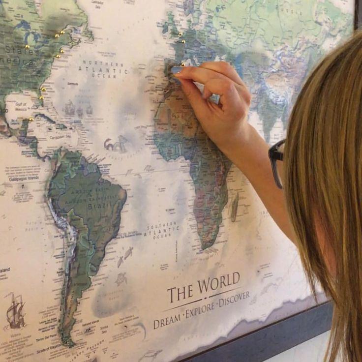 Push Pin Maps World Maps