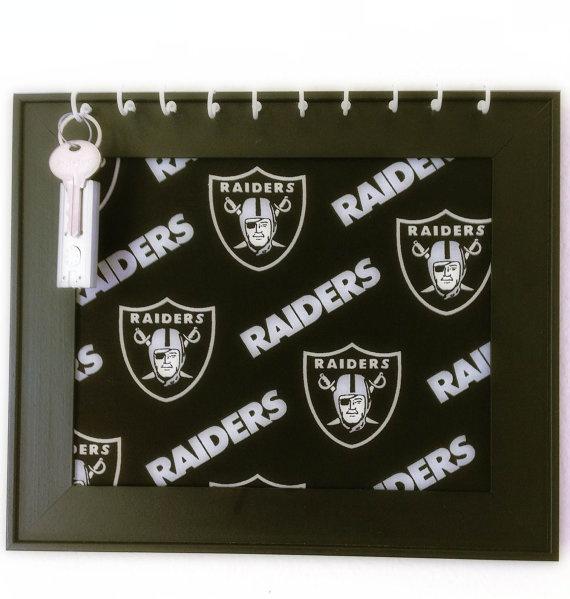 Framed Los Angeles Raiders Key holder Board by Bowliciousdivas, $25.00