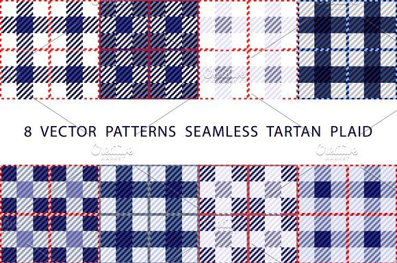 vector  PATTERNS  SEAMLESS  TARTAN by Rommeo79 on @creativemarket