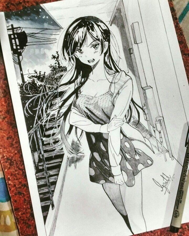Competed Drawing Mizuhara Chizuru Kanojo Okarishimasu
