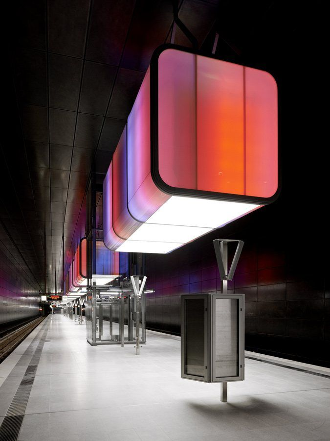 hafencity university subway station, hamburg