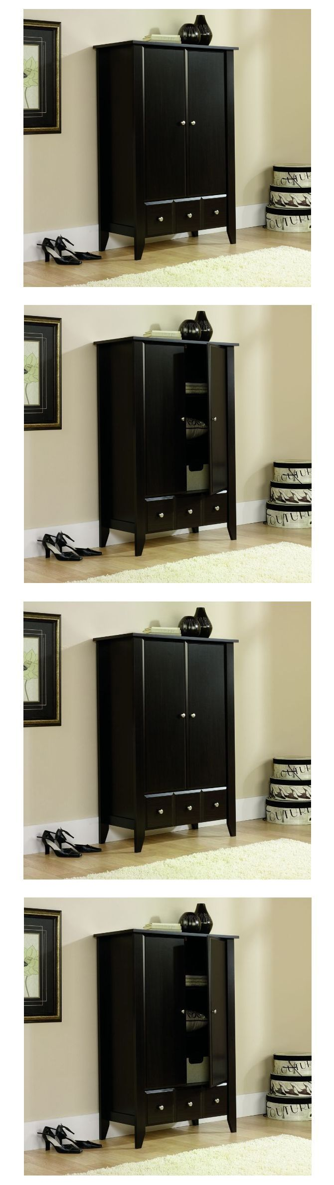 Armoires and Wardrobes 103430: Wardrobe Armoire For Clothes Bedroom Espresso Dresser Storage Large Furniture -> BUY IT NOW ONLY: $215.98 on eBay!
