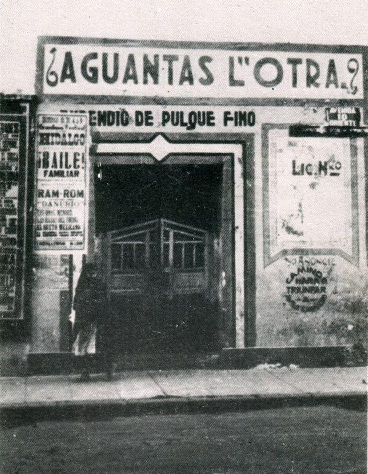 Mítica pulqueria  mexico en 1900