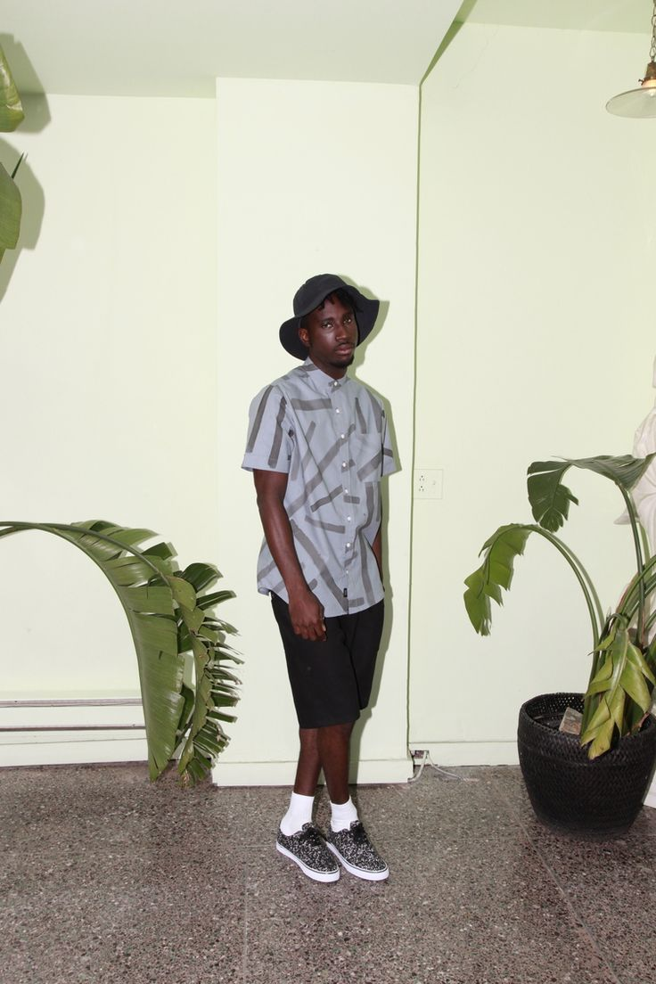 Of Sharks & Men - SS2016  Ernesto hand printed cotton shirt Jordan linen/cotton shorts