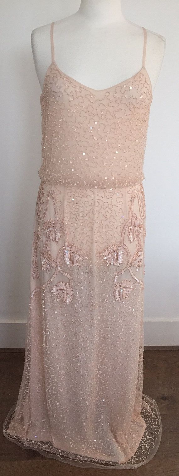 Pre Order Chicago Champagne Blush Prom Maxi Dress by Gatsbylady