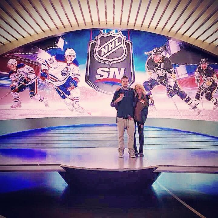 The wifey and i at SportsNet Toronto.
