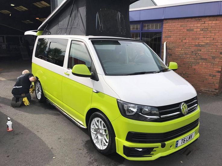 #campervan #Alloys #VW #TDI #Conversions #T6 #lowered #vwlowered #upholstry #respray #twotone #camper #transporter