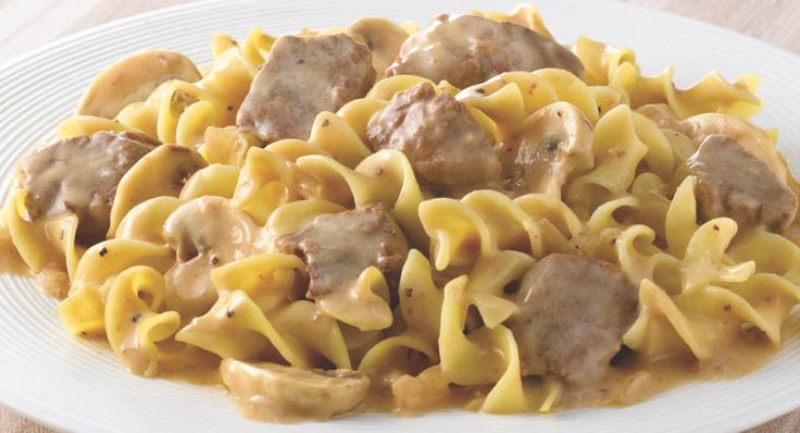 This elegant, comfort-food classic is now easy to prepare with McCormick Slow Cookers Beef Stroganoff Seasoning.