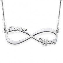 Infinity Name Necklace in Sterling Silver - 1-4 names!