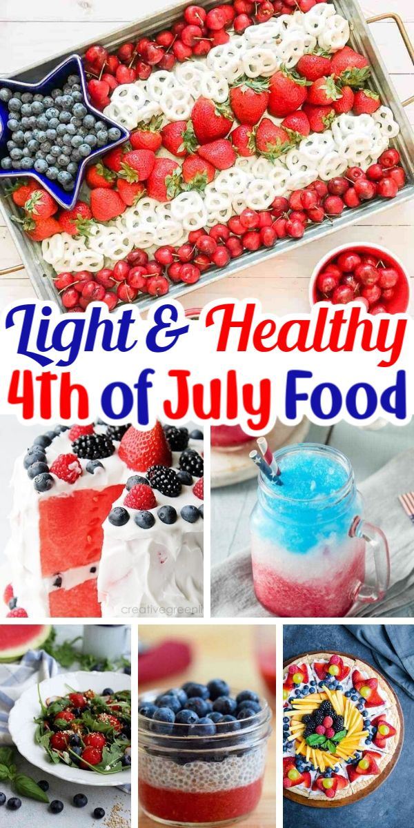 Jul 4, 2020 – 4th of July is right around the corner! There are plenty of fun, light and healthy food options to create…