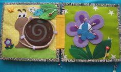 Развивающая книга/Quiet book page - tie a snail