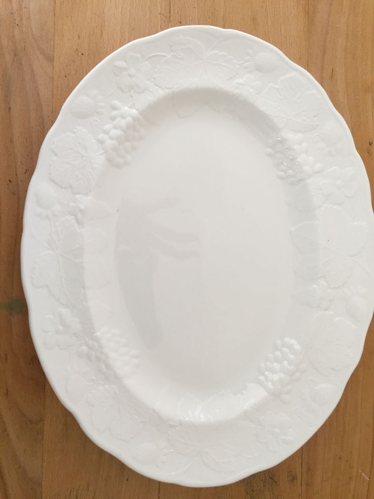 FOR SALE:  Wedgewood Strawberry and Vine Platter, bone china in excellent condition.  PRICE:  $30