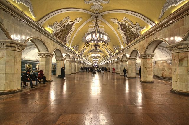 Moscow Metro - i just want to ride the metro and look around because the art is really good.