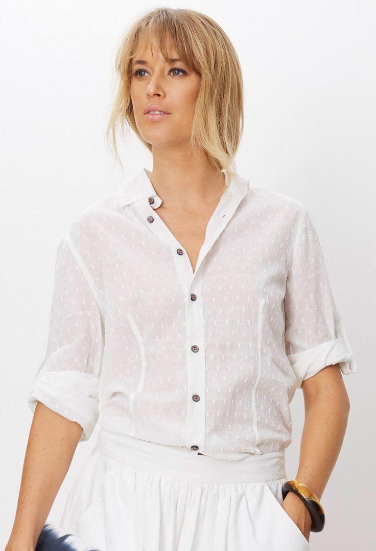 Binny - - Devon Days Cotton Shirt In White Dobby