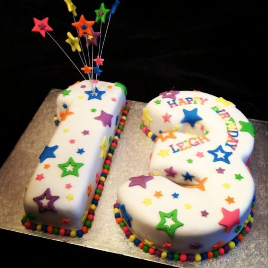13th Birthday Stars Cake