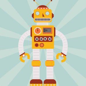Plakat Robot Miko NUNU BABA