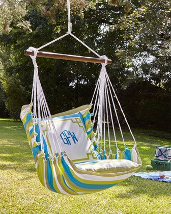 Monogrammed+Chair+Swing+at+Neiman+Marcus. WANT IN BLACK AND WHITE