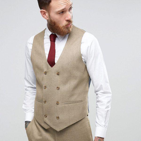 Chaleco de traje ajustado con microtextura retorcida   Qué es un Personal Shopper