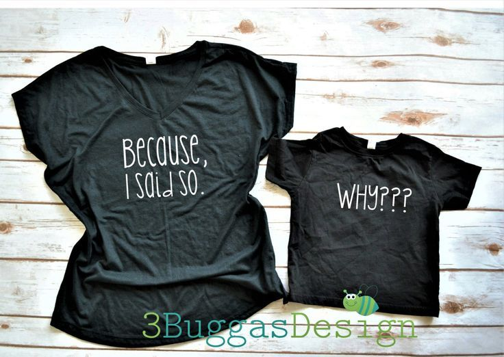 a57dd6a54 Matching Mommy and Me Outfit, Mom and Daughter Matching Outfits, Why Why  Why Mother and Son Shirt, Funny Matching Shirt Set, Mommy and Son